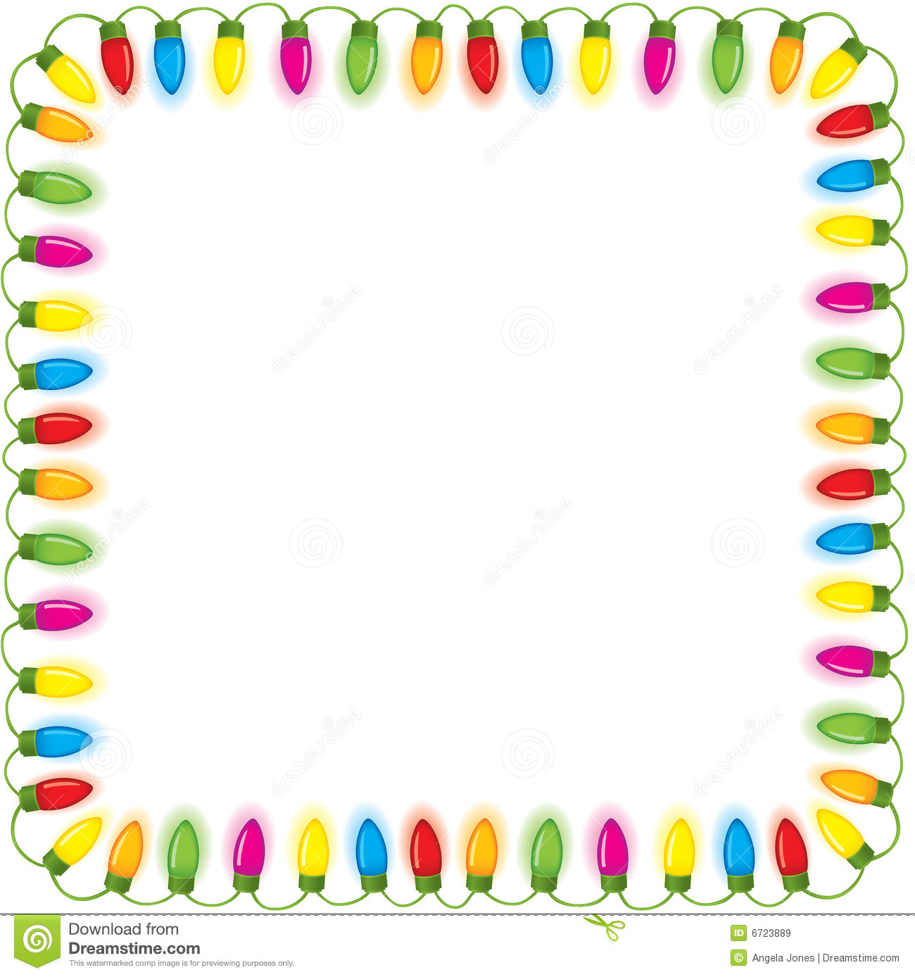 Festive christmas lights - Christmas Lights Border Clip Art