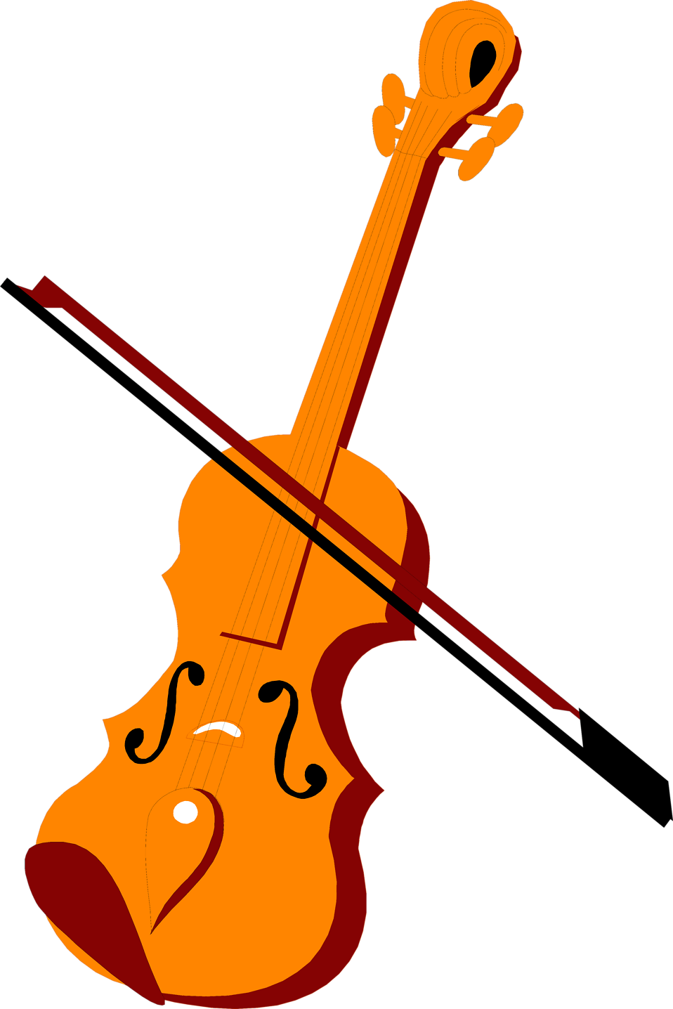 Fiddle Bow Clip Art Illustration Of A Violin And
