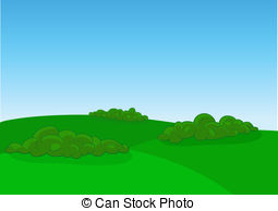 . ClipartLook.com Green field landscape, vector illustration