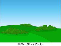 . ClipartLook.com Green field landscape, vector illustration