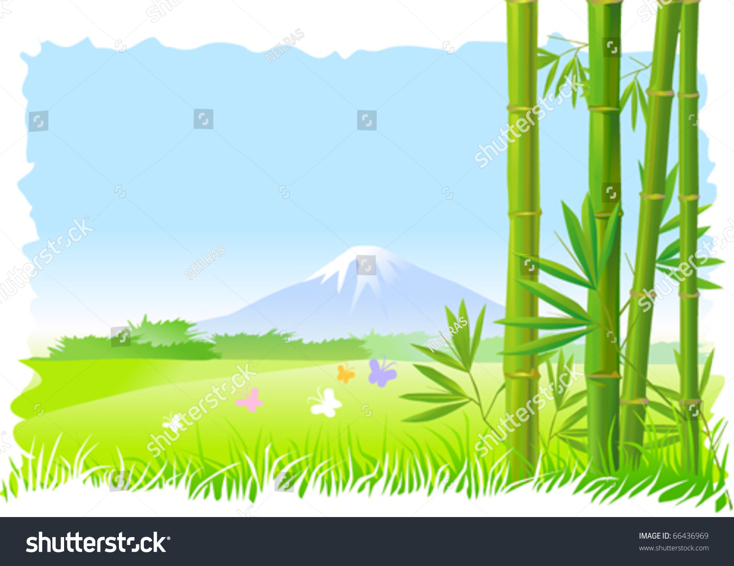 rice field clipart 6