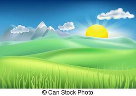 . ClipartLook.com summer time field - Illustration of summer landscape with. ClipartLook.com ClipartLook.com