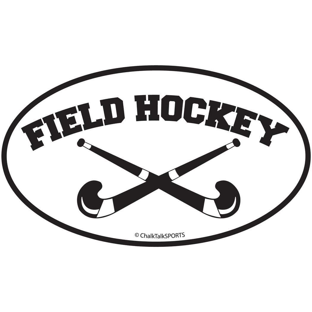 Field Hockey Sticks; Field Hockey Crossed Sticks Oval Car Magnet (; Hockey Clip Art ...