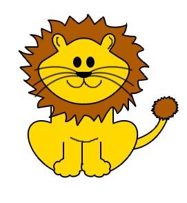 fierce lion clipart