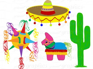 Fiesta Clip Art Fiesta Party Digital Clipart