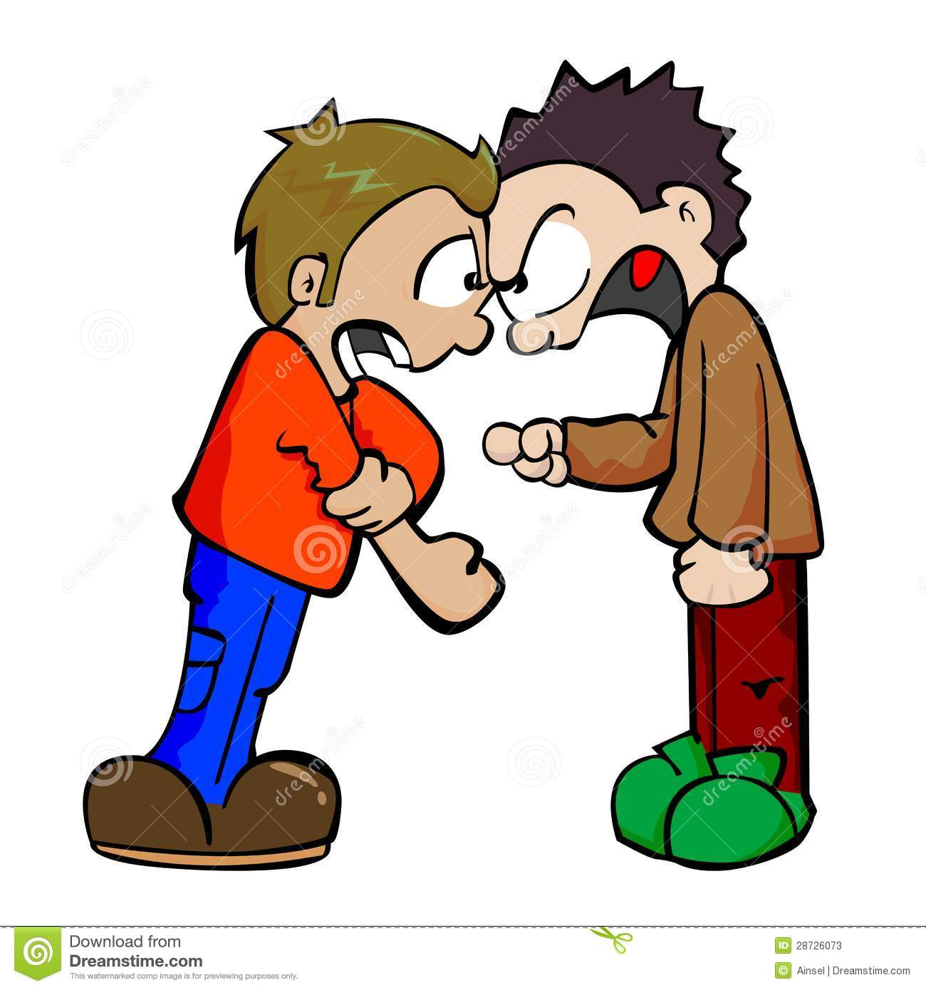 Fight Clipart face to face