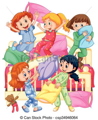 Pillow fight Clip Art and Stock Illustrations. 128 Pillow fight EPS  illustrations and vector clip art graphics available to search from  thousands of royalty ClipartLook.com