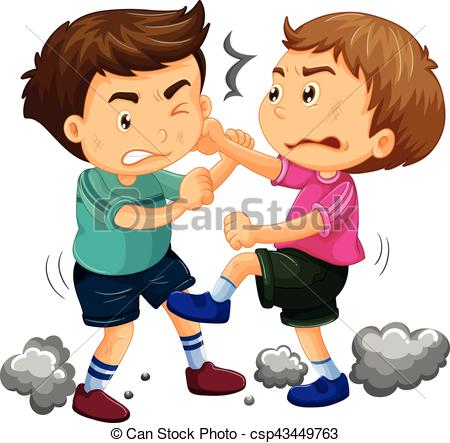 Two Young Boys Fighting - Csp43449763-Two young boys fighting - csp43449763-14