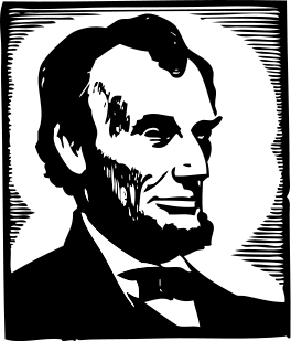 File:Abraham Lincoln clip art.svg
