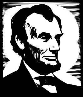 File:Abraham Lincoln Clip Art.svg-File:Abraham Lincoln clip art.svg-4