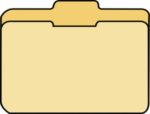 File Folder Clipart Image Beige File Folder Used In An Office