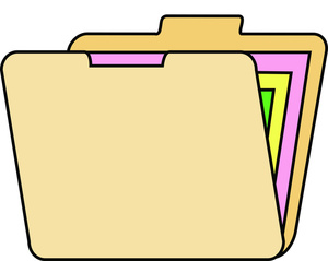 File Folder Clipart Image Open Yellow File Folder Icon With