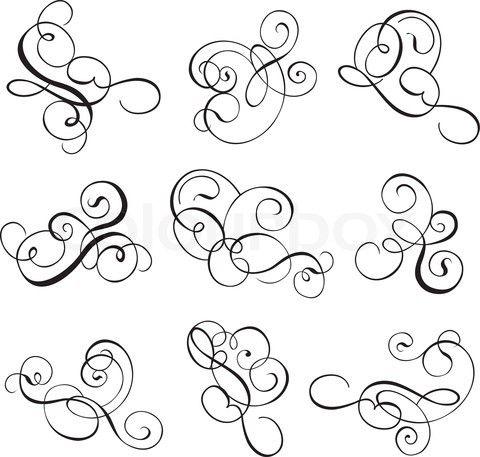 Filigree Clip Art | Filigree Scroll Line-filigree clip art | Filigree Scroll Lines Clip Art Pic #13-3