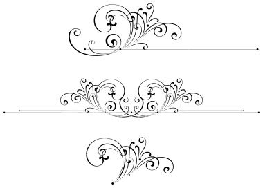 filigree clip art | Scroll Art Design Royalty Free Stock Vector Art Illustration