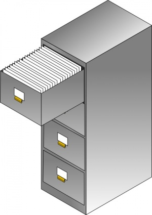 Filing Cabinet clip art Free .