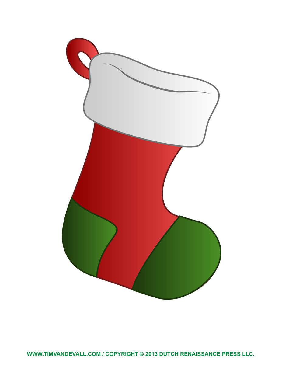 Filled Christmas Stocking Clipart