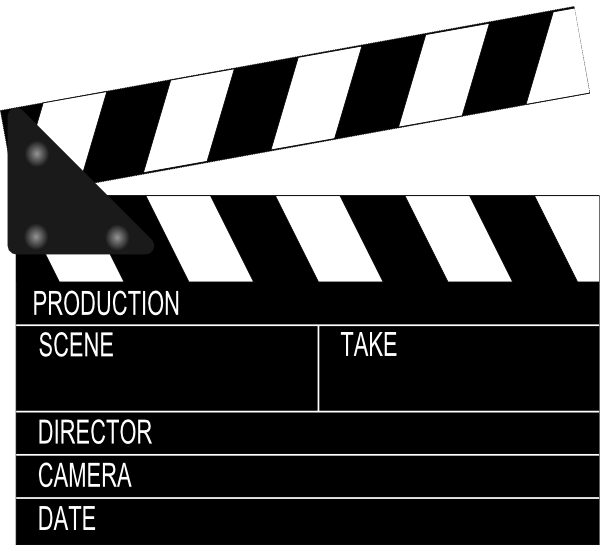 Film Slate Clip Art | Movie Clapper Boar-Film Slate Clip Art | Movie Clapper Board clip art - vector clip art online,-2