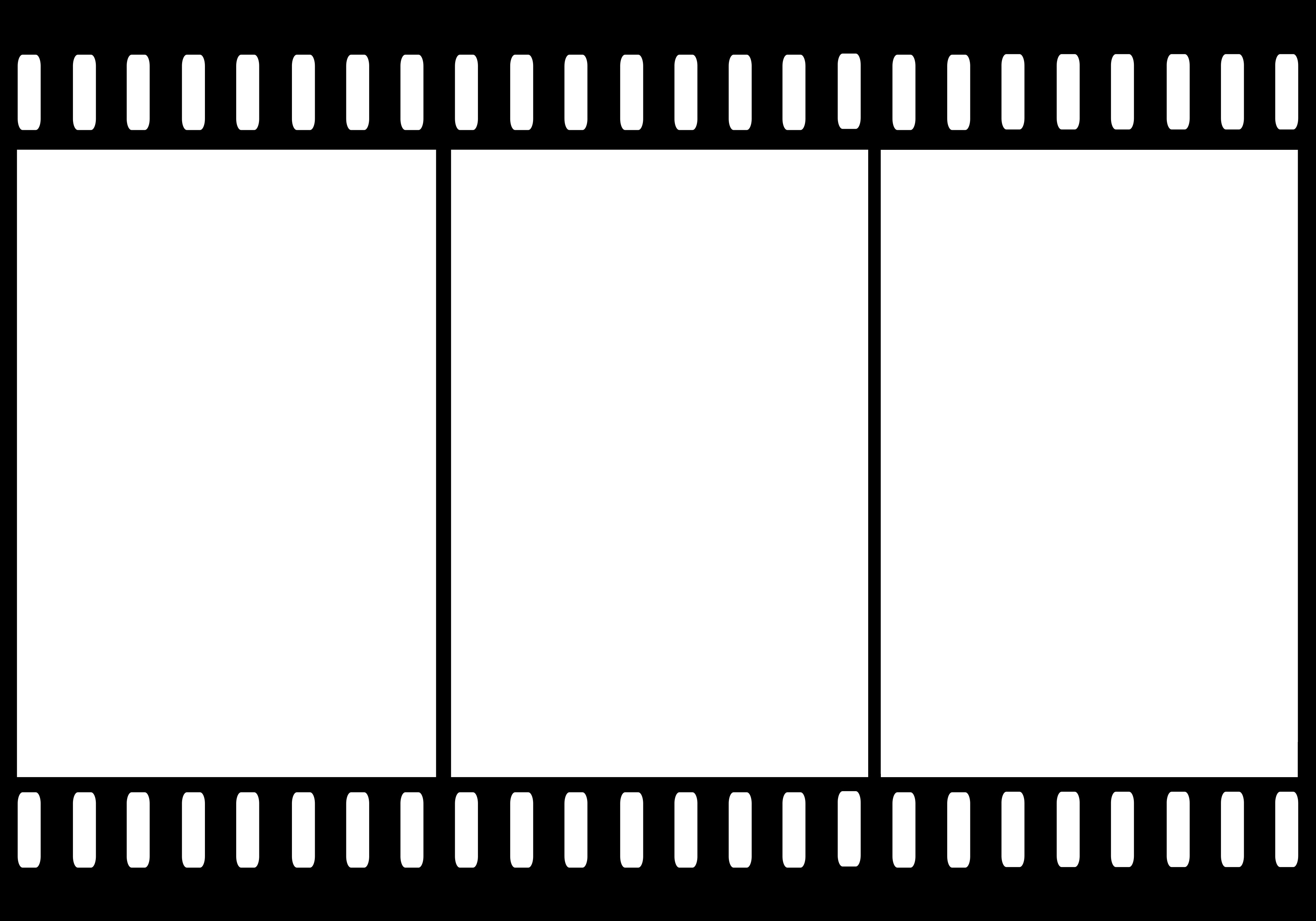 Film Strip Template Design Cl - Filmstrip Clipart