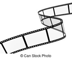Filmstrip - 3d abstract photographic film. Object over white