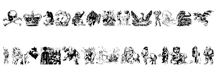 Fantasy Clipart Font-Fantasy clipart font-7