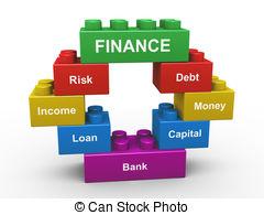 . ClipartLook.com 3d finance building blocks - 3d render of concept of finance.