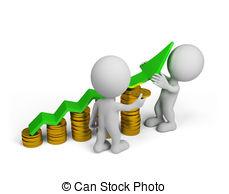 . ClipartLook.com 3d person - financial success - Two 3d person - more profit.