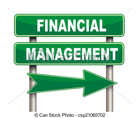 ... Financial management green road sign - Illustration of green.