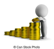 Financial Security Clip Artby focalpoint13/313; 3d small people - financial success - 3d small person puts.