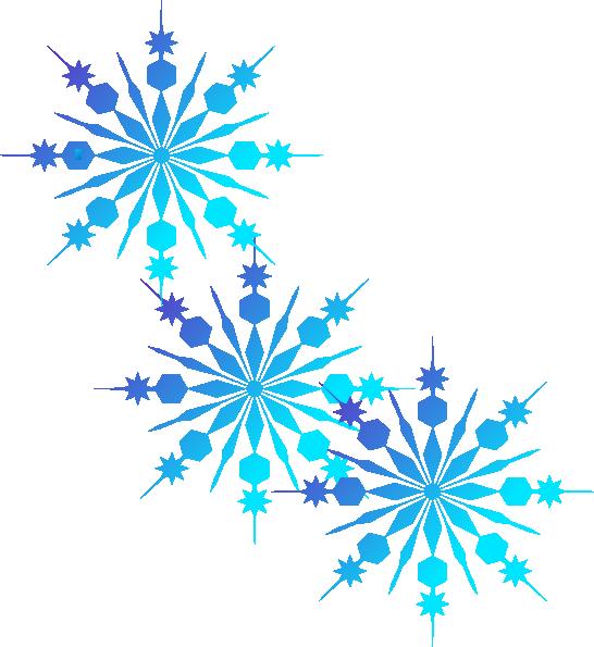 Snowflakes Blue Clip Art At C