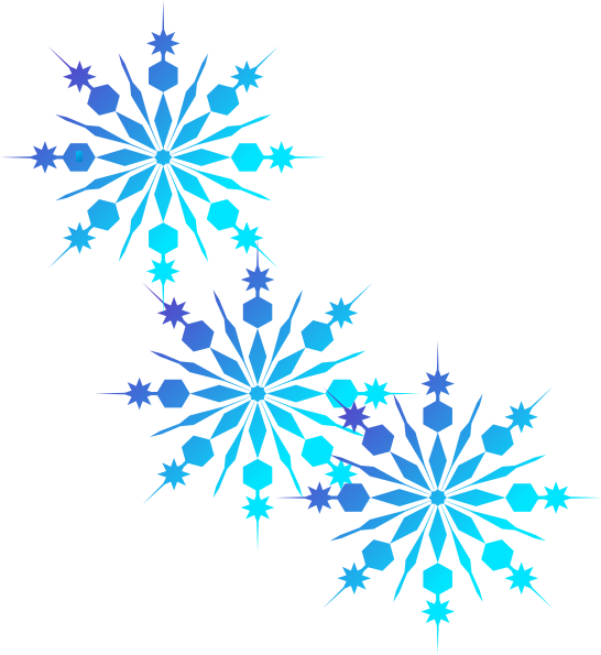 Finest Collection Of Free To  - Snowflake Clipart Border