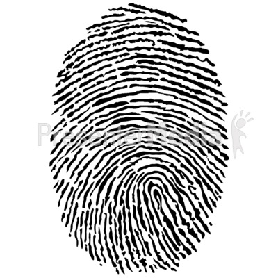 Black Fingerprint - Science and Technology - Great Clipart for  Presentations - www.PresenterMedia clipartlook.com