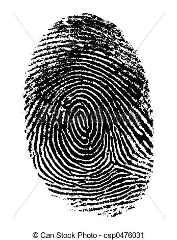Single Black Fingerprint 2 - csp0476031