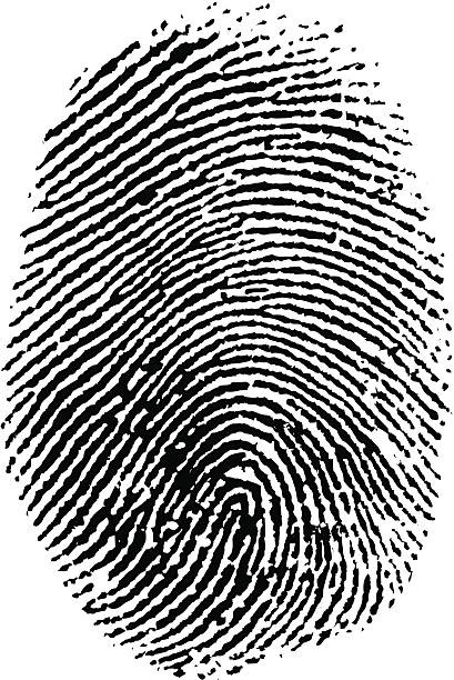 Thumb Print vector art illustration