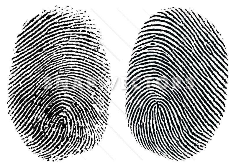 Vector Clipart Fingerprint Set