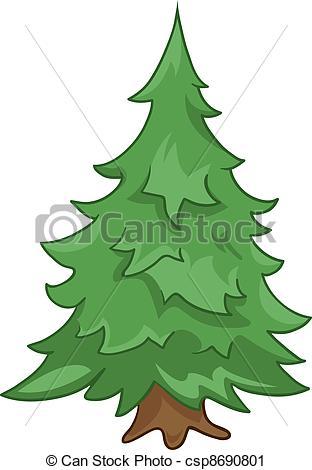 Cartoon Nature Tree Fir - csp8690801-Cartoon Nature Tree Fir - csp8690801-4