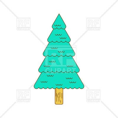 Christmas tree contour style. Fir., 1781-Christmas tree contour style. Fir., 178148, download royalty-free vector  vector ClipartLook.com -17