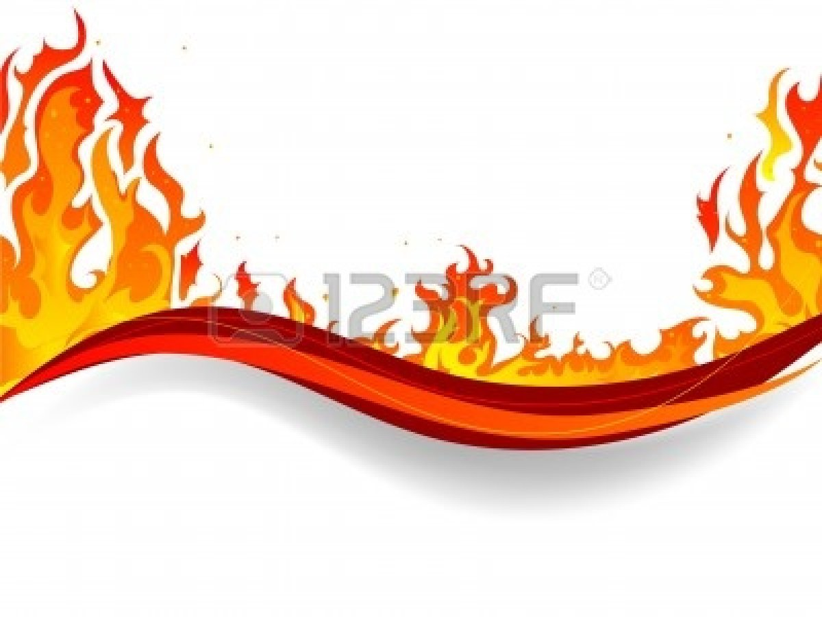 fire border with white background