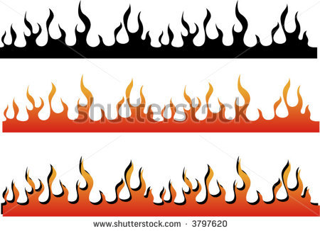 fire clipart border