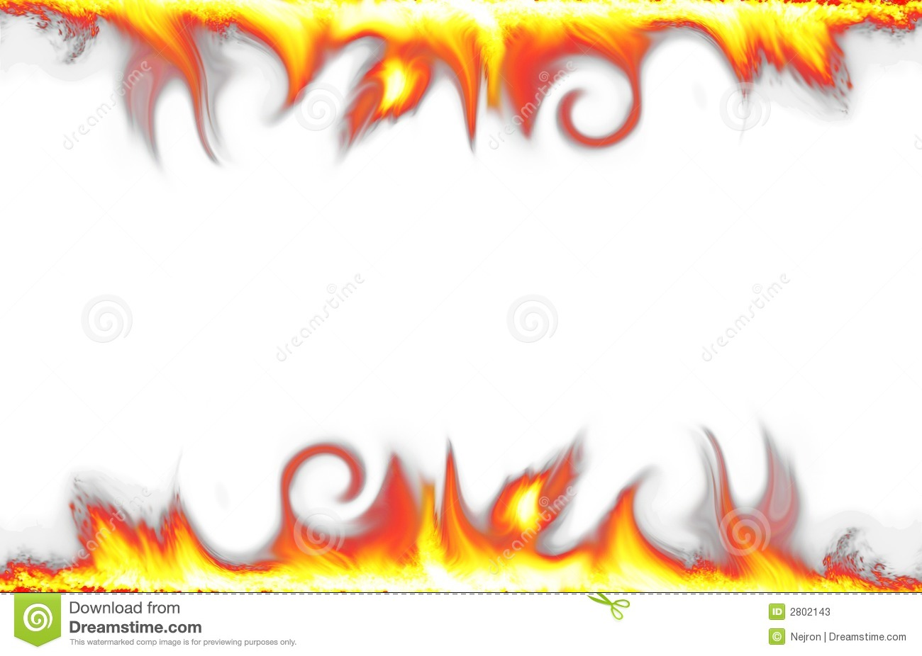 Fire Border Isolated On White Stock Photos Image 2802143