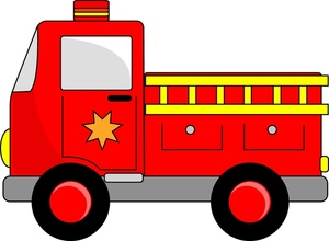 Fire Engine Clipart Image Red Fire Engine Toy Truck With Ladder And
