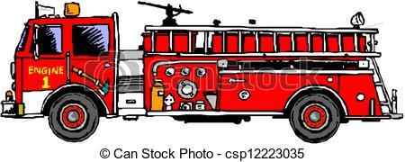 ... Fire engine ladder - Firetruck Clipart