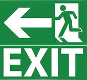 Fire Exit Clipart. Green Exit Emergency -Fire Exit Clipart. Green exit emergency sign .-14