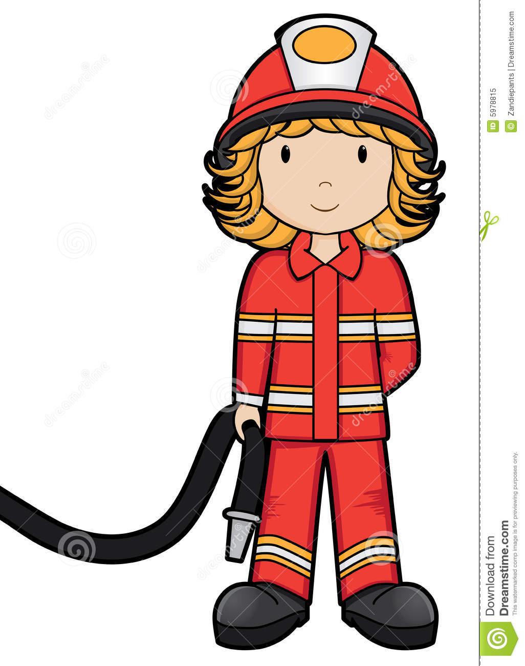 Fire Fighter Clip Art. Fire Girl Vector -Fire Fighter Clip Art. Fire Girl Vector Royalty Free Stock Photo Image 5978815-1