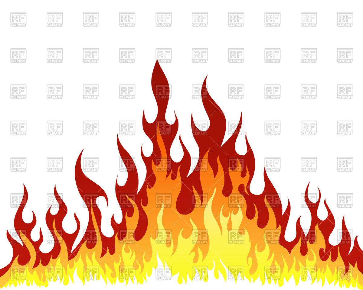 Fire flame background Royalty Free Vector Clip Art