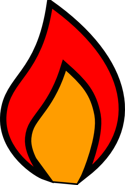 Fire flames clipart black and white free clipart