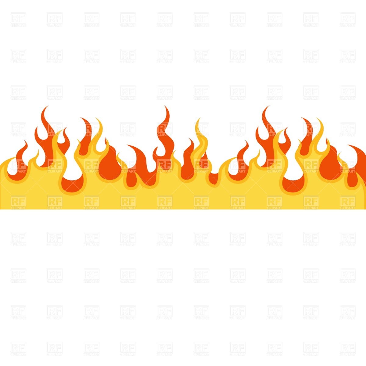 Flame frame Royalty Free Vector Clip Art