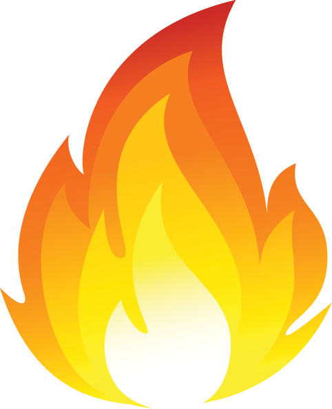 Fire flames clipart free .