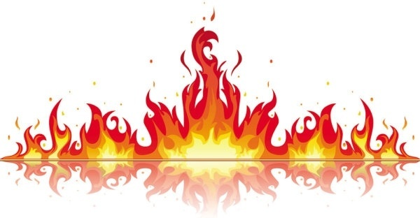 realistic fire flames clipart 3