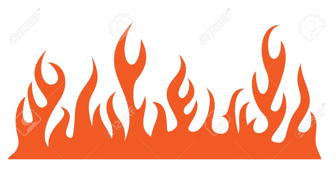 Silhouette of burning fire flame. Vector-Illustration Stock Vector - 4883895