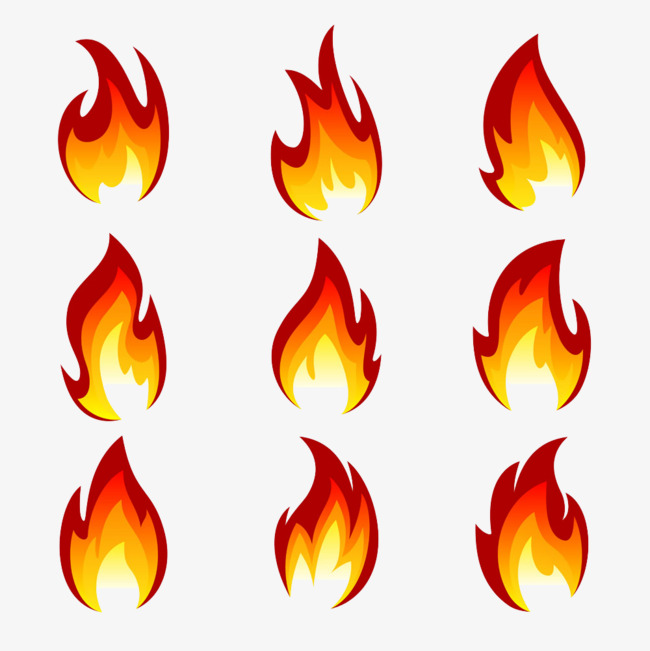 tattoo fire, Flame, Set, Cartoon PNG Image and Clipart